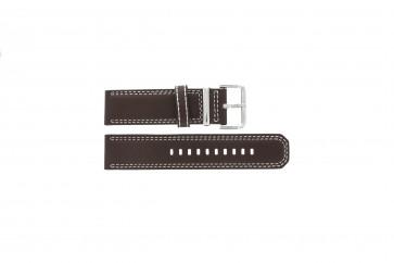 Bracelet de montre Seiko 7T62-0HM0 / SNAB71P1 / 4LP6JB Cuir Brun 24mm