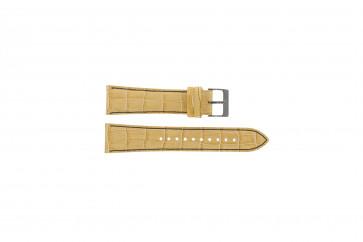 Bracelet de montre Seiko 7T92-0NK0 / SNDD69P1 Cuir Brun clair 22mm