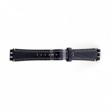 Bracelet de montre pour swatch croco bleu 19mm ES- 2.05