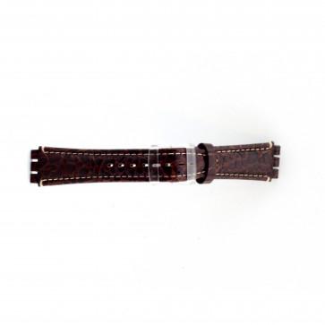 Bracelet de montre pour swatch croco brun 19mm ES- 2.02