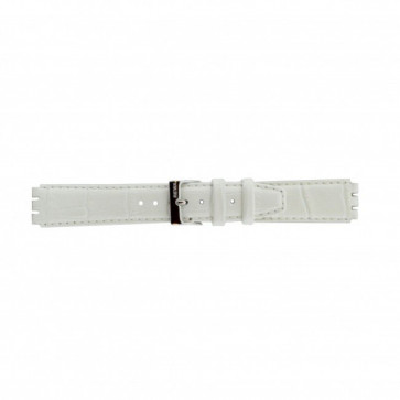 Bracelet de montre Swatch 21414.11 Cuir Blanc 17mm