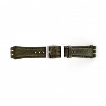 Bracelet de montre Swatch SC14.11 Cuir Vert 19mm