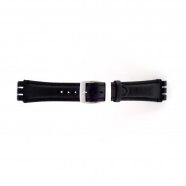 Bracelet de montre Swatch SC14.01 Cuir Noir 19mm