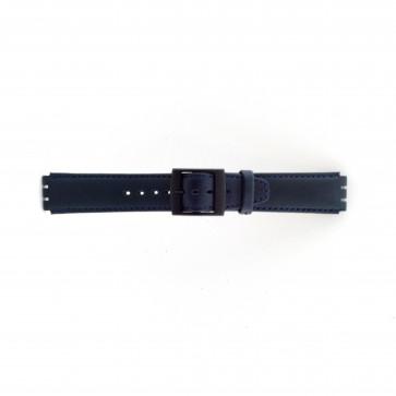 Bracelet de montre Swatch SC11.05 Cuir Bleu 17mm