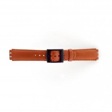 Bracelet de montre Swatch SC11.03 Cuir Brun 17mm