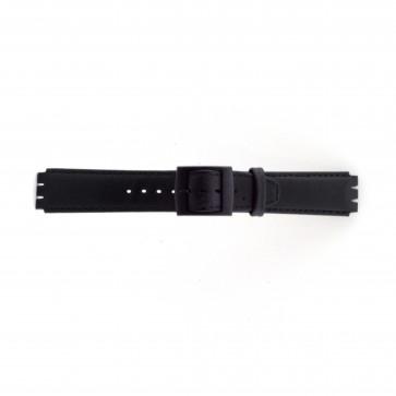 Bracelet de montre pour Swatch noir 17mm PVK SC11.01