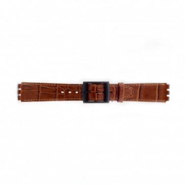 Bracelet de montre pour Swatch croco brun 16mm PVK SC16.03