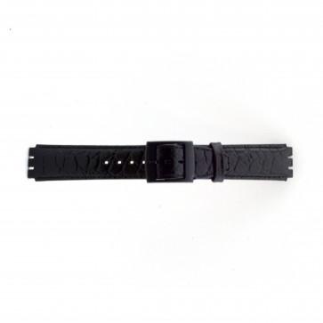 Bracelet de montre Swatch SC10.01 Cuir Noir 17mm