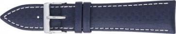 Carbone bracelet blue foncé avec coutures blanches 24mm PVK-321