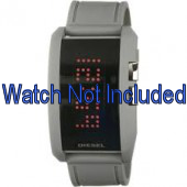 Diesel bracelet de montre DZ7163 Silicone Gris 24mm