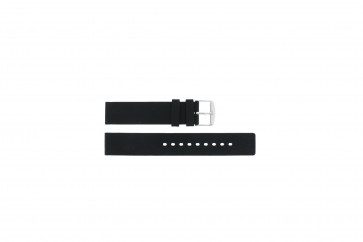 Bracelet de montre Universel 21901.01.18 / 6826 Silicone Noir 18mm