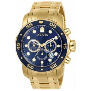 Bracelet de montre Invicta 0073 / 0072 / 0074 / 0075 / 80064 / 80065 / 80068 / 80069 Acier Plaqué or