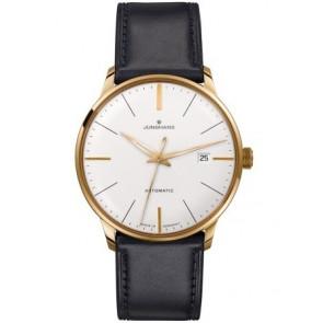 Bracelet de montre Junghans 42050-6249 / 027/7312 Cuir Noir 20mm