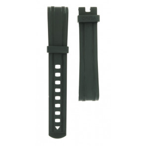Bracelet de montre Omega 21032422001001 Silicone Noir 20mm