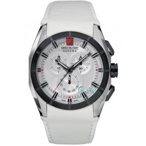 Bracelet de montre Swiss Military Hanowa 06-4191.33.001 Cuir Blanc