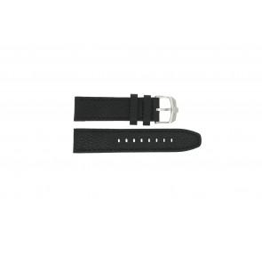 Swiss Military Hanowa bracelet de montre 06-4224.04.007 Cuir Noir 22mm + coutures noires
