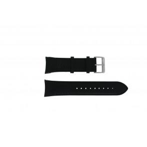 Swiss Military Hanowa bracelet de montre 06-4278.04.001.07 Cuir Noir + coutures noires