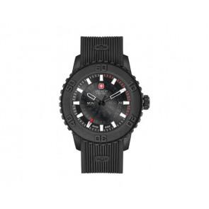 Bracelet de montre Swiss Military Hanowa 6-4281.27.007 Twilight Silicone Noir