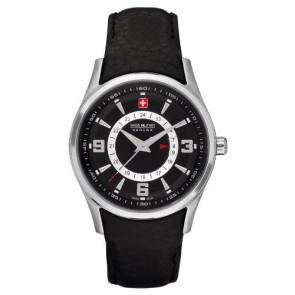 Bracelet de montre Swiss Military Hanowa 06-6155.04.007 Cuir Noir