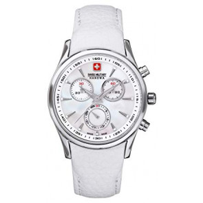 Bracelet de montre Swiss Military Hanowa 06.6156.04.001-87 Cuir Blanc