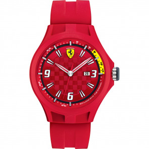 Bracelet de montre Ferrari 0830007 / SF689300005 Caoutchouc Rouge 22mm
