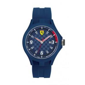Bracelet de montre Ferrari SF101.4 / 0830067 / SF689300097 Caoutchouc Bleu 22mm