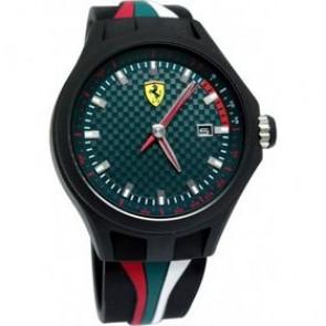 Ferrari bracelet de montre SF101.5 / 0830070 / SF689300050 Caoutchouc Noir 22mm