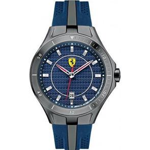 Ferrari bracelet de montre SF103.7 / 0830081 / SF689300057 / Scuderia Caoutchouc Bleu 22mm