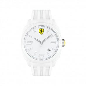 Ferrari bracelet de montre SF113.1 / 0830113 / SF689300066 / Scuderia Caoutchouc Blanc 24mm