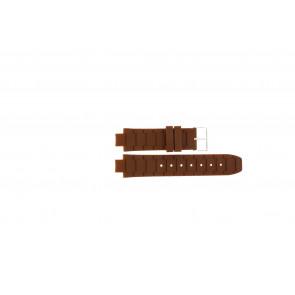 Jacques Lemans bracelet de montre 1-1696 / BK-2892 Silicone Brun 12mm