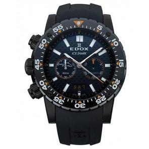 Bracelet de montre Edox 10301 / Loc-22 Caoutchouc Noir