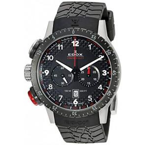 Bracelet de montre Edox 10305 Caoutchouc Noir 23mm