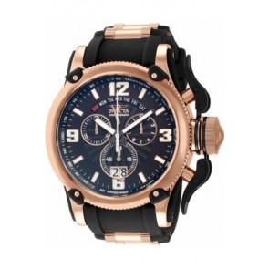 Bracelet de montre Invicta 12434 Silicone Noir 26mm