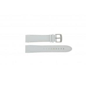 Police bracelet de montre 12898JS-02A Cuir Blanc 22mm + coutures blanches