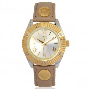 TOV Essentials bracelet de montre 1463 / TOV Cuir Brun clair 18mm + coutures de beige