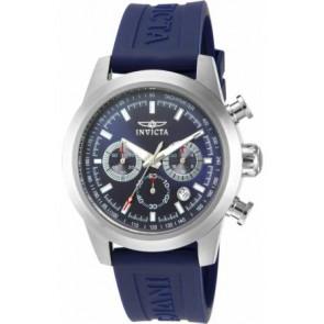 Bracelet de montre Invicta 15200-01 Silicone Bleu 22mm