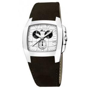 Bracelet de montre Lotus 15321-1 Cuir Noir