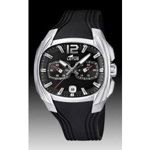Lotus bracelet de montre L15756 Caoutchouc Noir 22mm