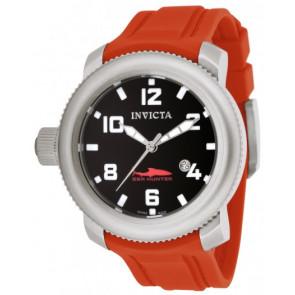 Bracelet de montre Invicta 1691 Sea Hunter Silicone Rouge