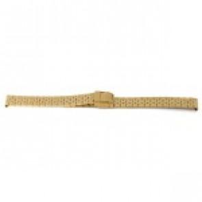 Bracelet de montre Prisma 1691 Acier inoxydable Plaqué or 16mm