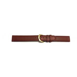 Bracelet de montre en cuir brun 16mm