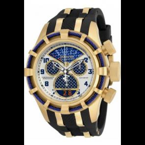 Bracelet de montre Invicta 17465 (17465.01) Acier/Silicone Noir