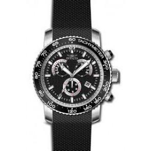 Bracelet de montre Invicta 17773 Silicone Noir 22mm