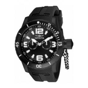 Bracelet de montre Invicta 1794.01 Caoutchouc Noir 24mm