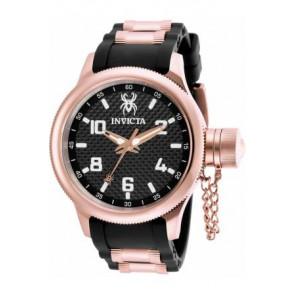 Bracelet de montre Invicta 17948 Caoutchouc Noir