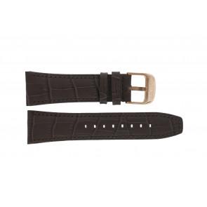 Lotus bracelet de montre 18015 Cuir Brun 26mm + coutures brunes