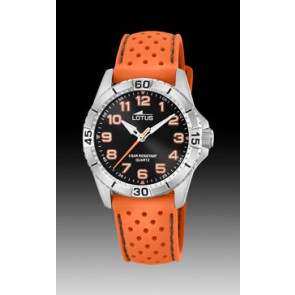 Bracelet de montre Lotus 18663-1 Silicone Orange 18mm