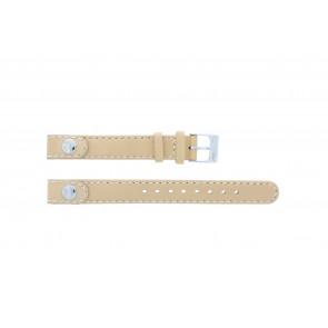 Lacoste bracelet de montre 2000385 / LC-05-3-14-0009 / BE Cuir Beige 12mm + coutures défaut