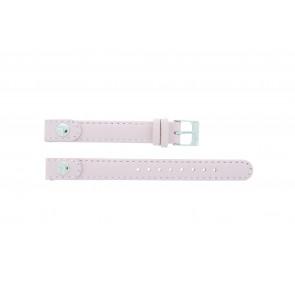 Lacoste bracelet de montre 2000387 / LC-05-3-14-0009 Cuir Rose 12mm + coutures défaut