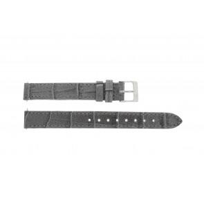 Lacoste bracelet de montre 2000514 / LC-05-3-14-0167 Cuir Gris 13mm + coutures défaut